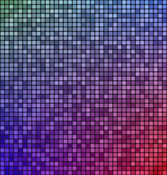 Red blue pixel mosaic design background vector