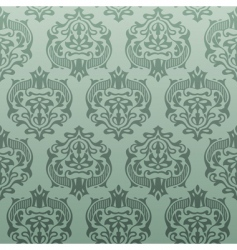 retro damask wallpaper vector image