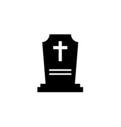 Rip grave icon tombstone gravestone death vector