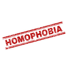 Scratched textured homophobia stamp seal vector