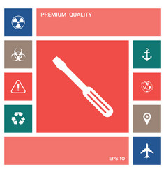 screwdriver icon symbol elements for your design vector image