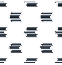 seamless books pattern education symbol from icon vector image