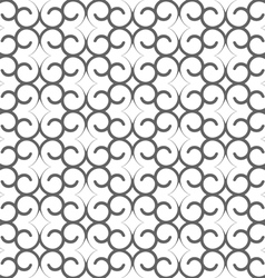 Seamless delicate pattern with swirls vector