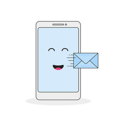 send a message from your mobile phone vector image