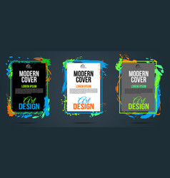 set three frame modern art graphics can be vector image