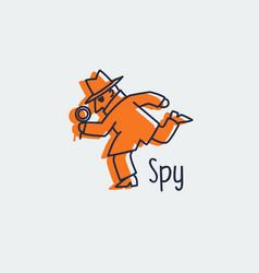 Spy icon logo vector