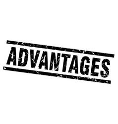 Square grunge black advantages stamp vector