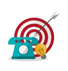 Target and digital marketing design vector