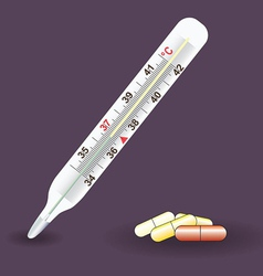 Thermometer medical celsius vector