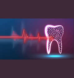 Tooth dental point disease health and medical vector