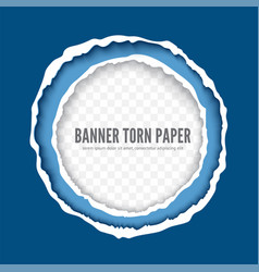 torn paper sheet realistic banner template vector image