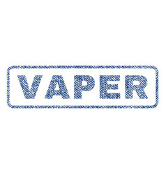 Vaper textile stamp vector
