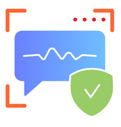 Voice recognition flat icon sound identification vector