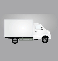 White delivery truck vector
