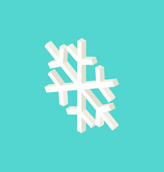 white snowflake isometric object vector image
