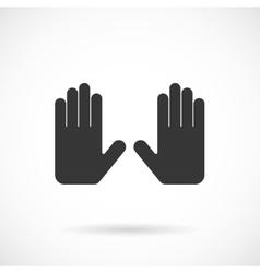 Grey Hands Icon vector image vector image