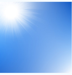 sun rays sky vector image vector image
