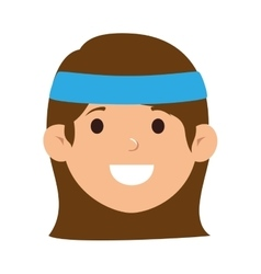 tennis player character icon vector image