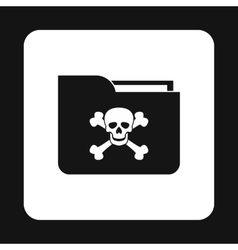 Virus in e-mail icon simple style vector image vector image