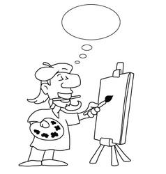 Cartoon Artist vector image