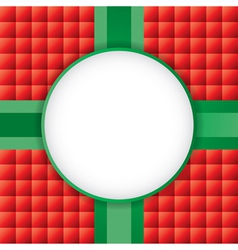 Christmas Present with Circle Copyspace vector image vector image