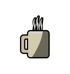 coffee mug beverage break shadow vector image