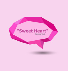 pink polygonal geometric speech bubble vector image