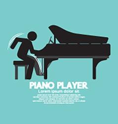 Black Symbol Piano Player vector image
