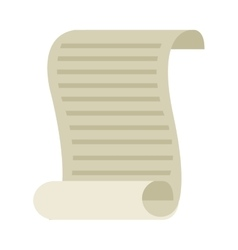 document old paper isolated icon vector image
