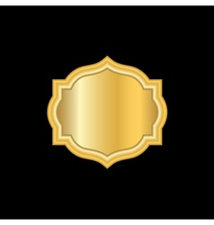 Gold frame Beautiful simple golden design white vector image