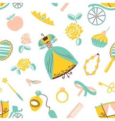 Princess accessory seamless pattern vector image