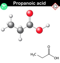 Propanoic acid structure vector image