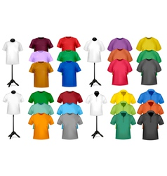 color t-shirt design template vector image