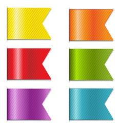 Ribbon markers vector