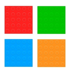 Set Of Seamless Patterns Plastic Constructor vector image