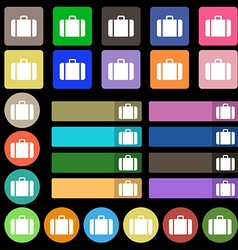 suitcase icon sign Set from twenty seven vector image