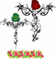 tattoo flower rose vector image vector image