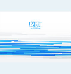 Abstract blue horizontal stripes background vector