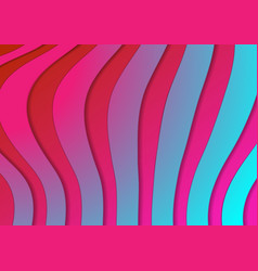 abstract holographic corporate wavy stripes vector image
