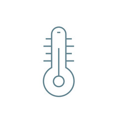 air temperature linear icon concept air vector image