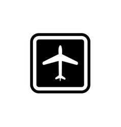 airport sign icon element of travel icon for vector image