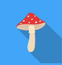 Amanita icon in flat style isolated on white vector