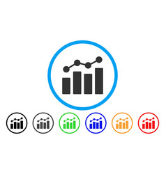 Analytics rounded icon vector