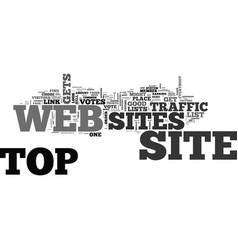 Are top web sites good for everybody text word vector