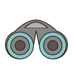 Binoculars device isolated icon vector