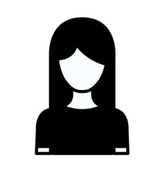 black silhouette thick contour of faceless half vector image