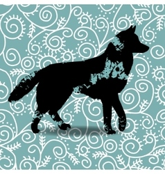 Blots silhouette of a dog vector