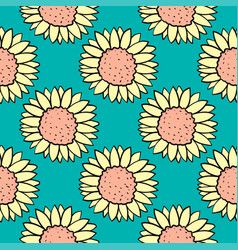 Camomile flower pattern on white background vector