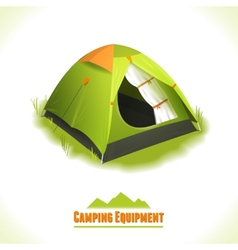 Camping symbol tent vector image