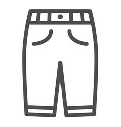 Capri line icon clothes concept man sport pants vector